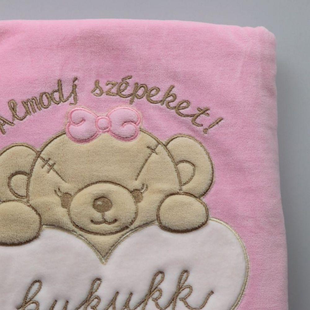 rózsaszín málna 75x95 plüss takaró Aster - Kukukk Baby Webshop 436f9eeb1c